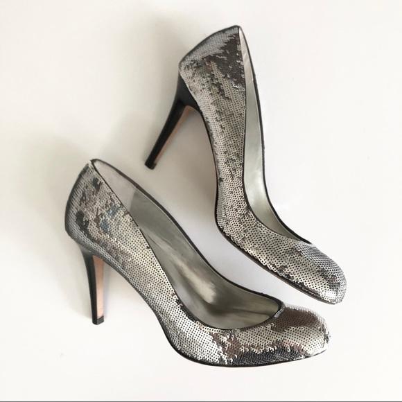 Report Signature Silver Sequin Heels